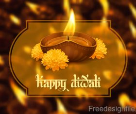 Diwali festival with blurs background vector 05