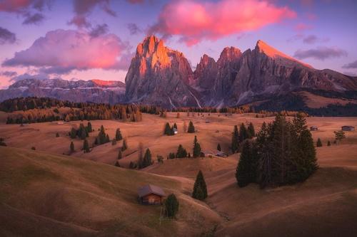 Dolomites mountains landscape Stock Photo
