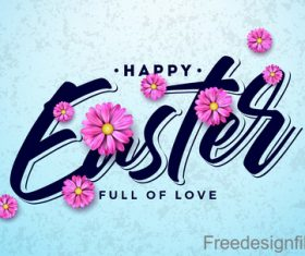 Easter card design with colored egg vectors material 04