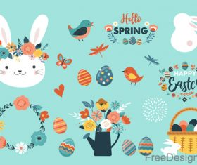 Easter decor with ornaments vector design