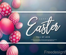 Easter egg with blurs background design vector