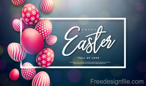 Easter egg with blurs background design vector