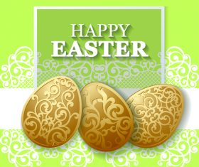 Easter egg with green background vector
