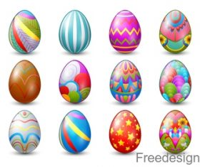 Easter eggs illustration vector set 01