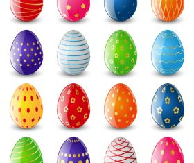 Easter eggs illustration vector set 02