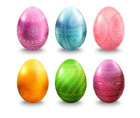 Easter eggs illustration vector set 04