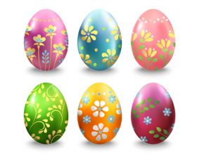 Easter eggs illustration vector set 05