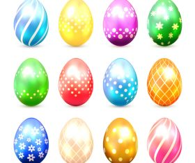 Easter eggs illustration vector set 06