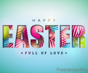 Easter festival card template vectors 03