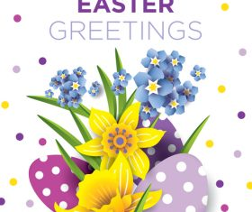 Easter greeting card vector design