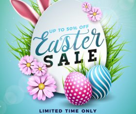 Easter sale shop new design vector