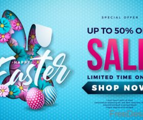 Easter sale up to 5 off design vector 03