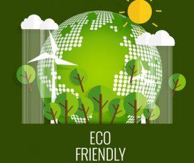 Eco friendly green template vector 01