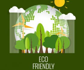 Eco friendly green template vector 02