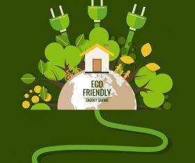 Eco friendly green template vector 04