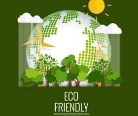 Eco friendly green template vector 05