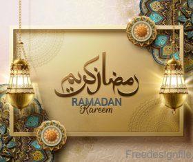 Eid mularak ornate background vector 02