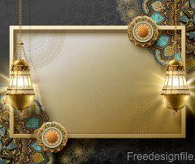 Eid mularak ornate background vector 04