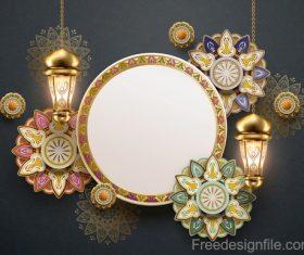 Eid mularak ornate background vector 05