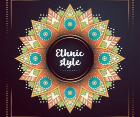 Ethnic style colored decorative background vectors 01