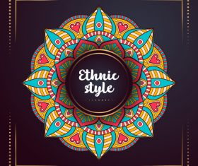 Ethnic style colored decorative background vectors 03