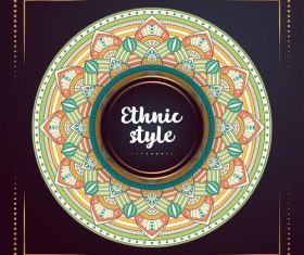 Ethnic style colored decorative background vectors 06
