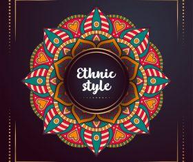Ethnic style colored decorative background vectors 08