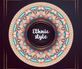 Ethnic style colored decorative background vectors 09