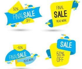 Final sale labels vector