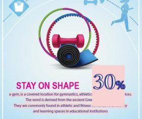 Fitness flyer temptlate vector design 01