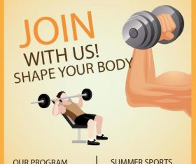 Fitness flyer temptlate vector design 03