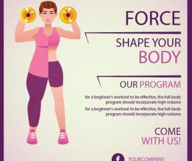 Fitness flyer temptlate vector design 04