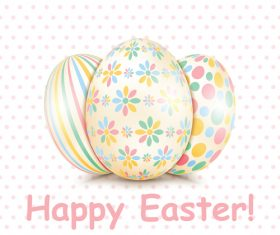Floral easter eggs vector design