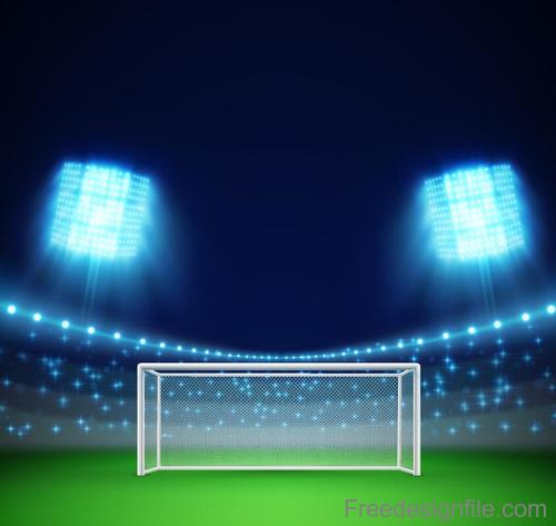 Football Field with sportlight vector design