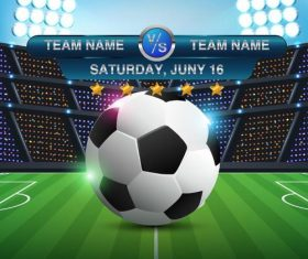 Football match poster template vector design