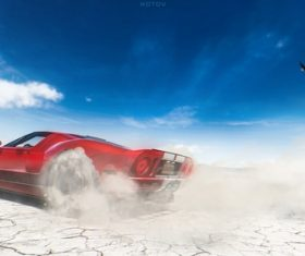 Ford GT 2005 red cars Stock Photo