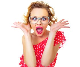 Funny Crazy Woman Stock Photo 02