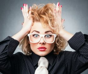 Funny Crazy Woman Stock Photo 03