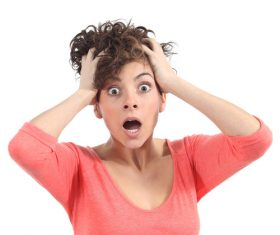 Funny Crazy Woman Stock Photo 04