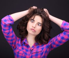Funny Crazy Woman Stock Photo 05