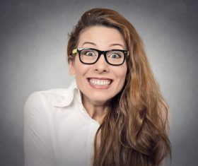 Funny Crazy Woman Stock Photo 06