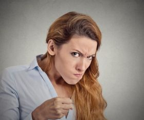 Funny Crazy Woman Stock Photo 07