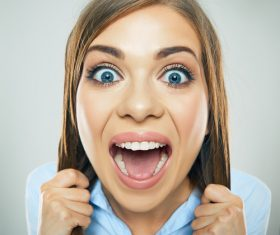 Funny Crazy Woman Stock Photo 08