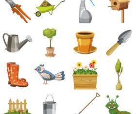 Garden tools vector design