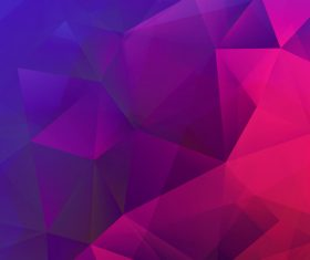 Geometric polygon colored backgrounds vectors 01