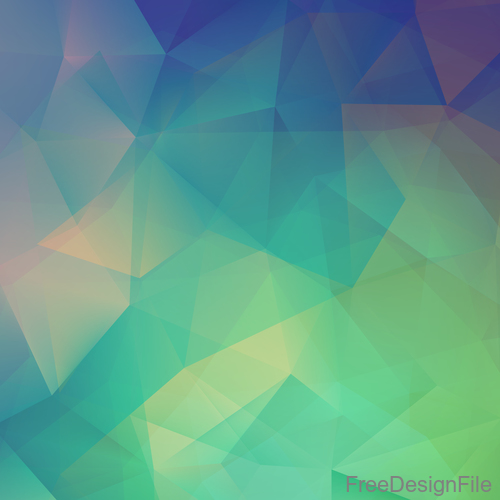 Geometric polygon colored backgrounds vectors 03