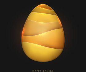 Golden easter egg with black background vector