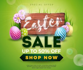 Green easter sale special offer vector