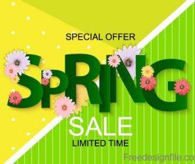 Green styles sprine sale design vector