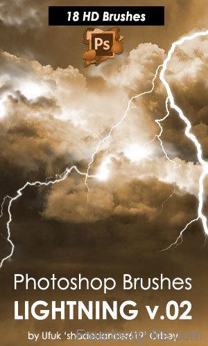 HD Lightning Photoshop Brushes